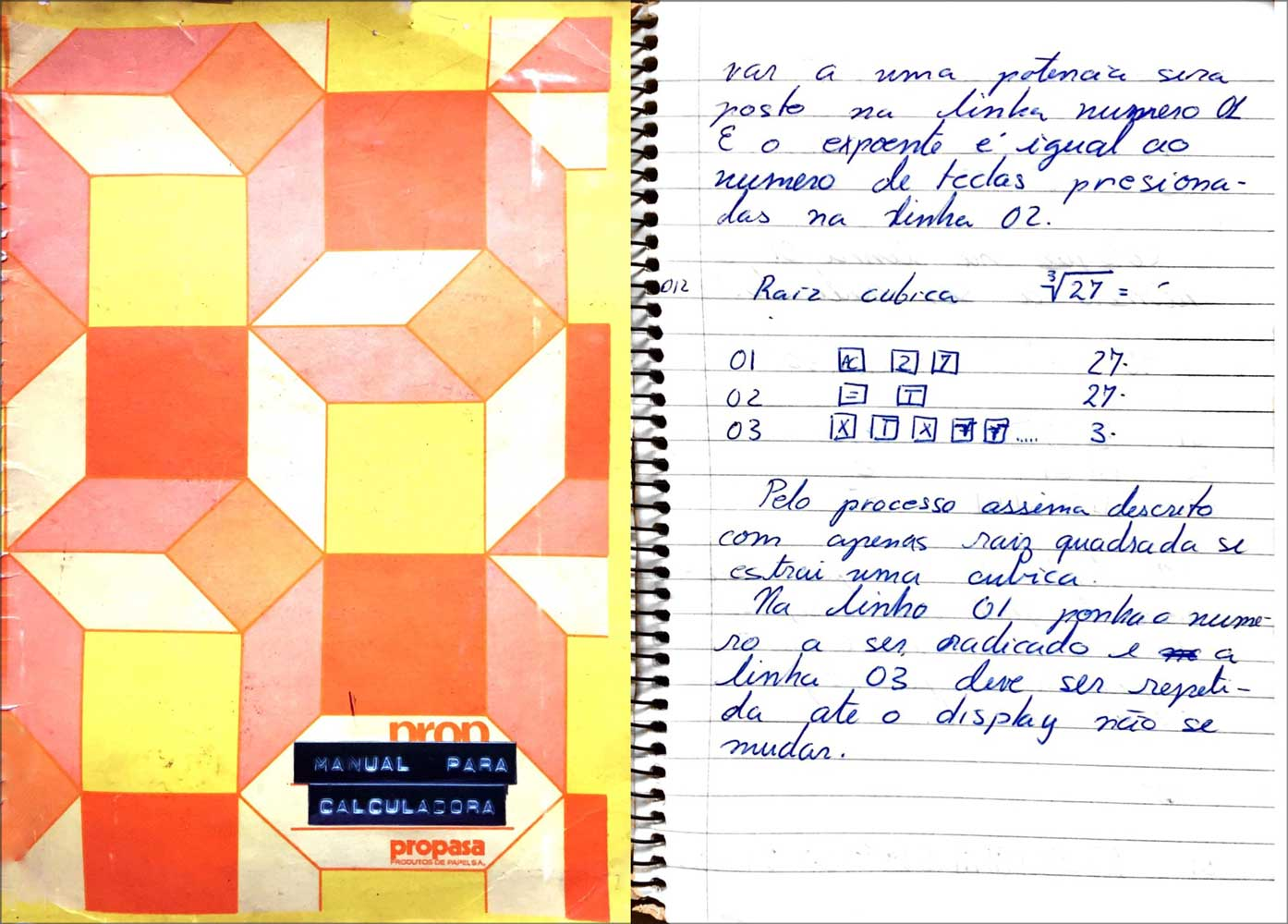 notebook entry