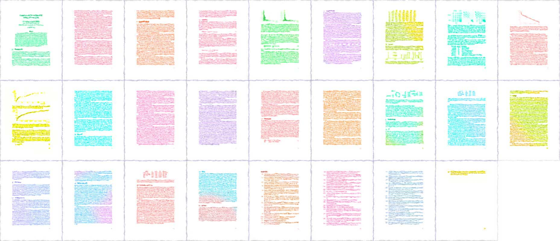 multicolored thumbnails of the papers of the paper